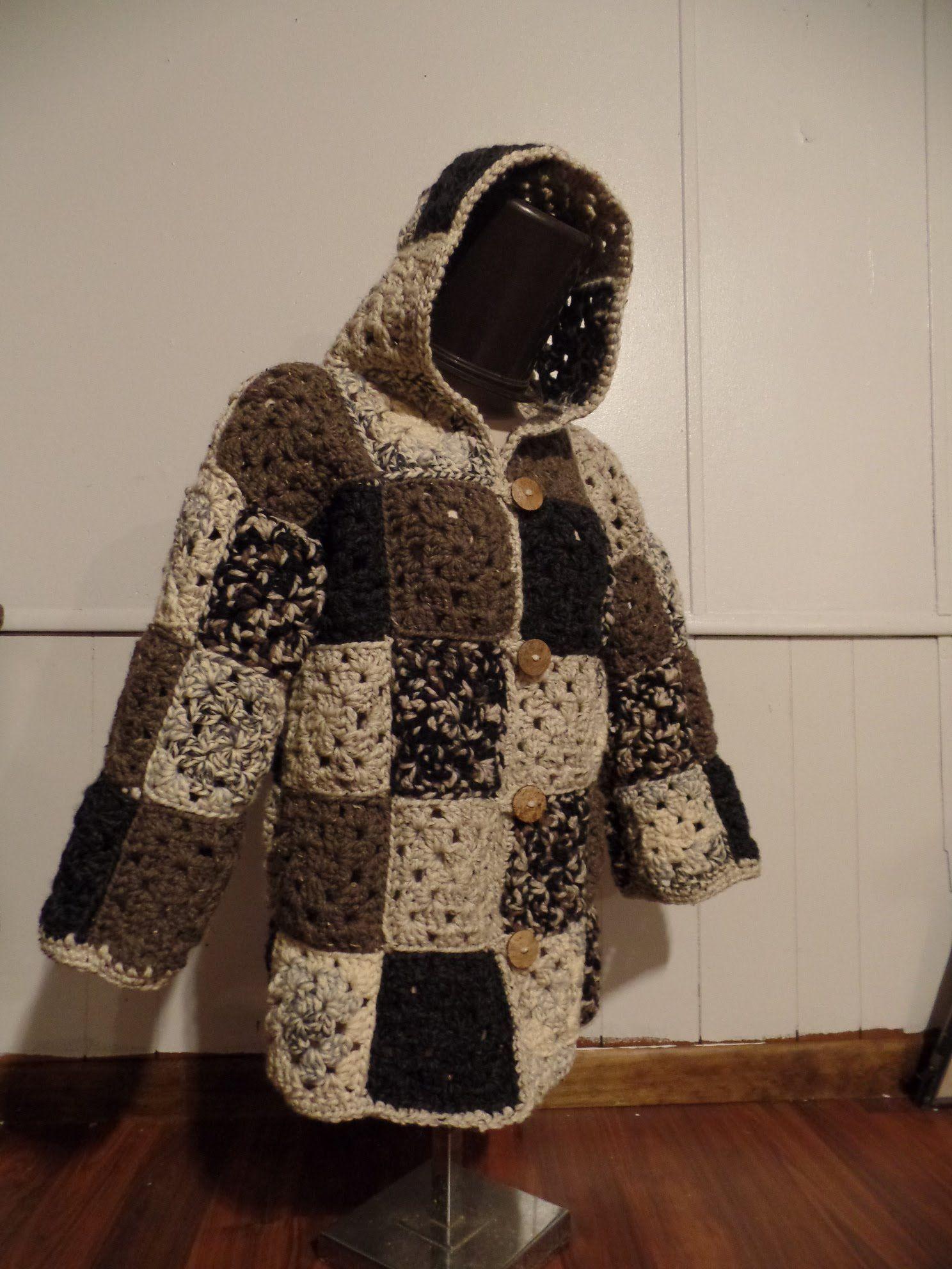 Crochet Granny Square Coat Jacket #TUTORIAL | videos crochet ...