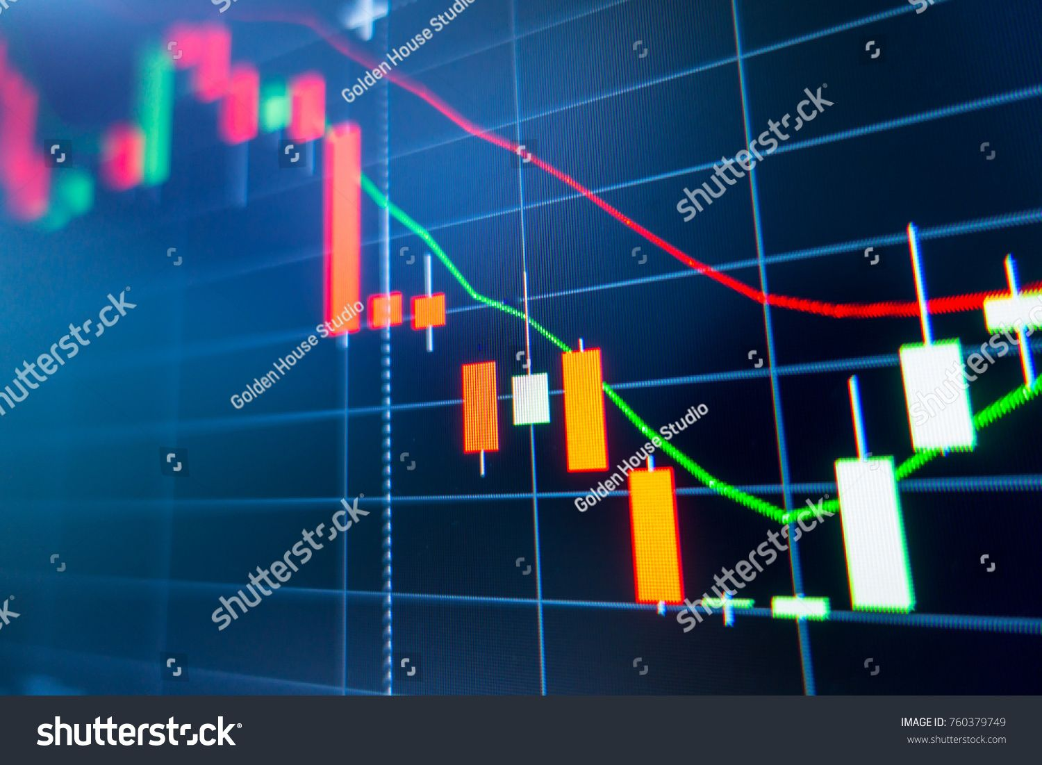 Stock Exchange Market Graph Analysis Background Stock Photo Edit