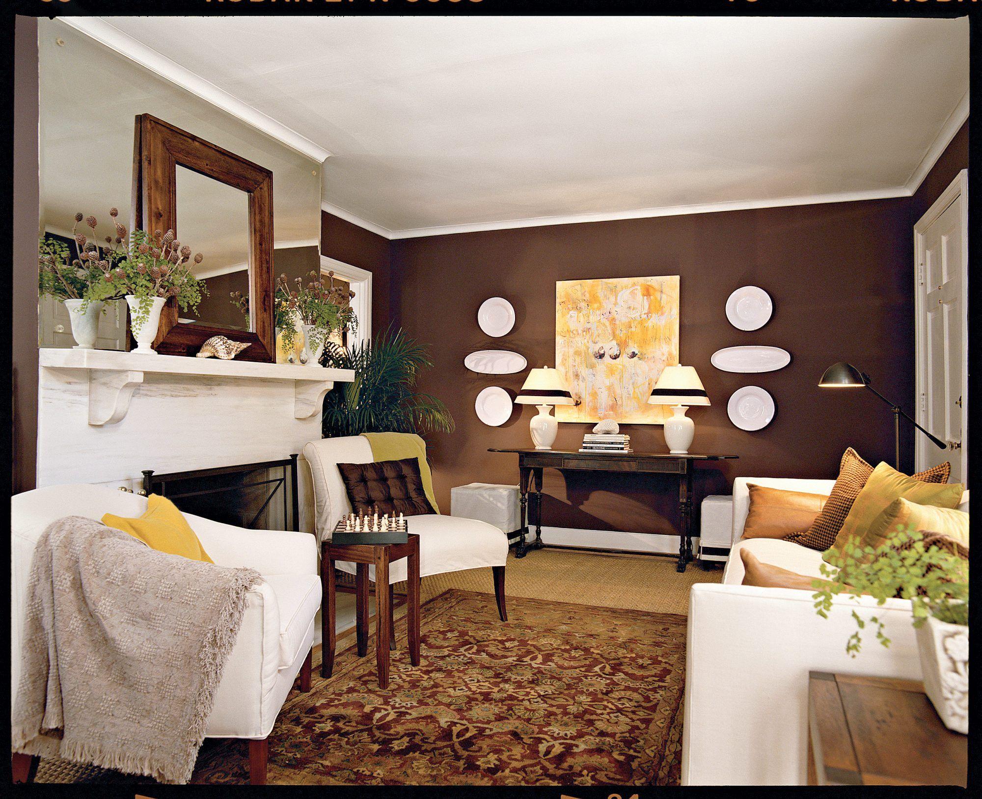 Chocolate Brown Living Room | Brown living room decor ...