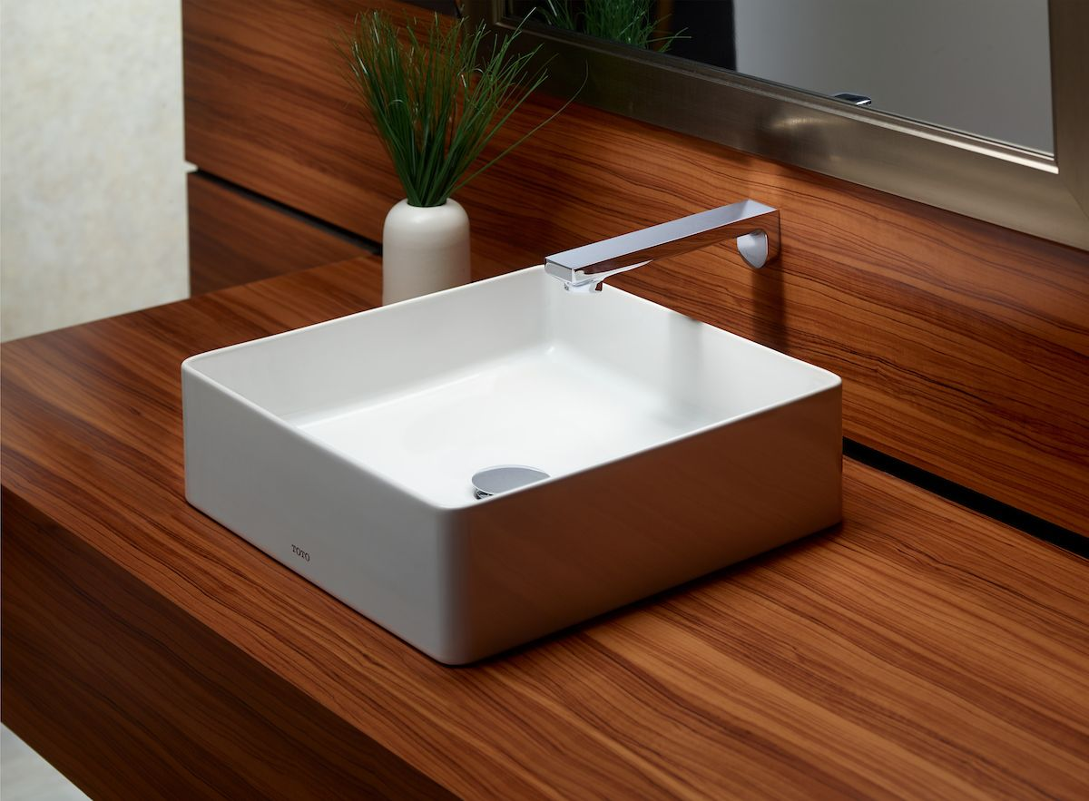 Sleek And Modern The Arvina Faucet Offers Stunning Contrast Against Darker Wood And Stone Counters Masculine Bathroom Design Sink Bathroom Interior Design
