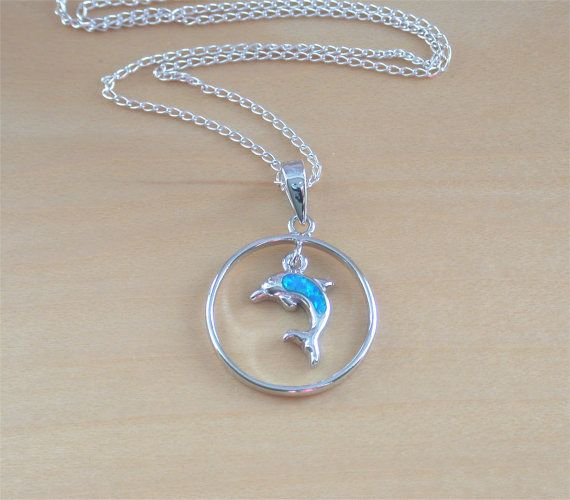 Jewels Obsession Dolphin Necklace Rhodium-plated 925 Silver Dolphin Pendant with 16 Necklace