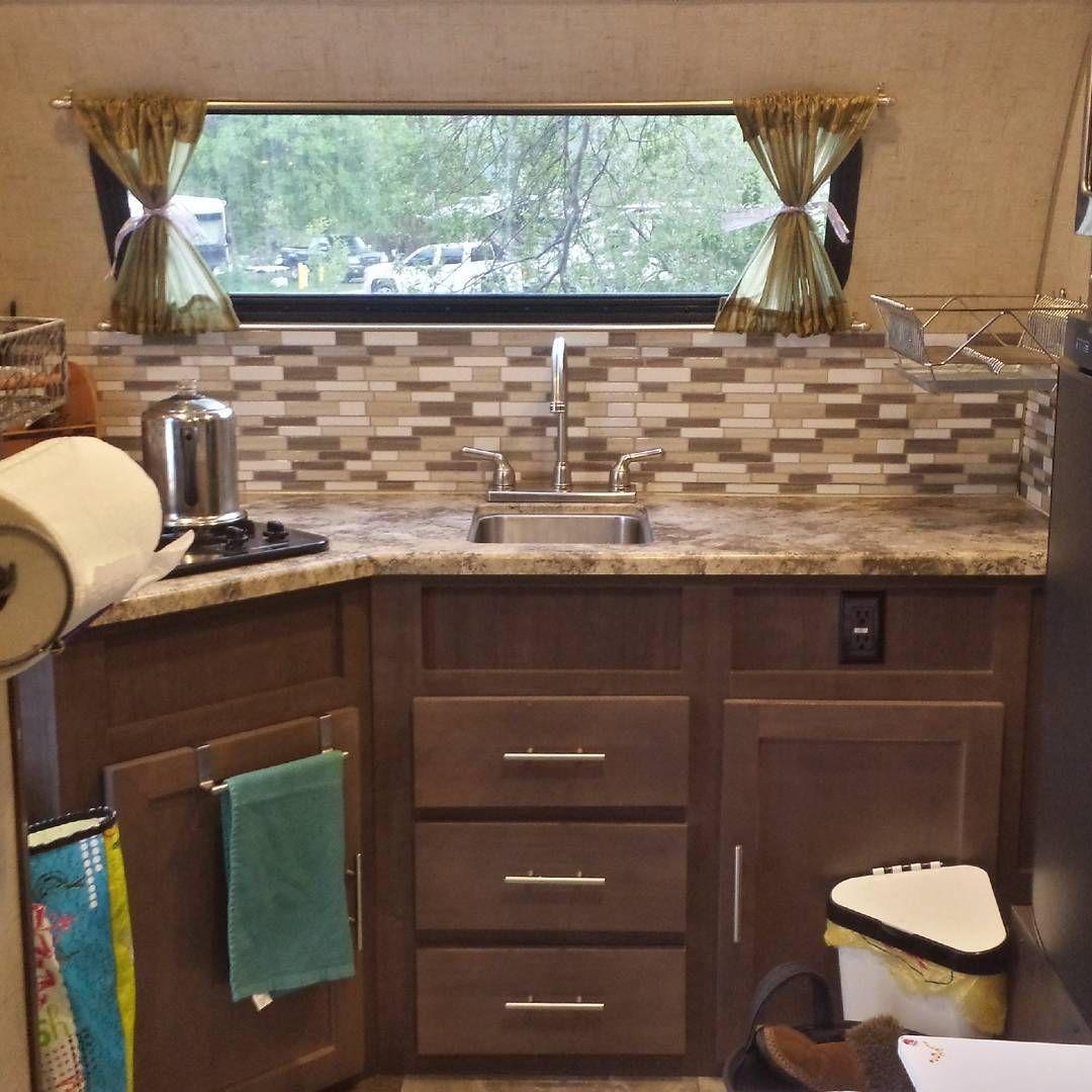 "R Pod 179 kitchen backsplash upgrade #tinyhouse #rpod #minimalism"""