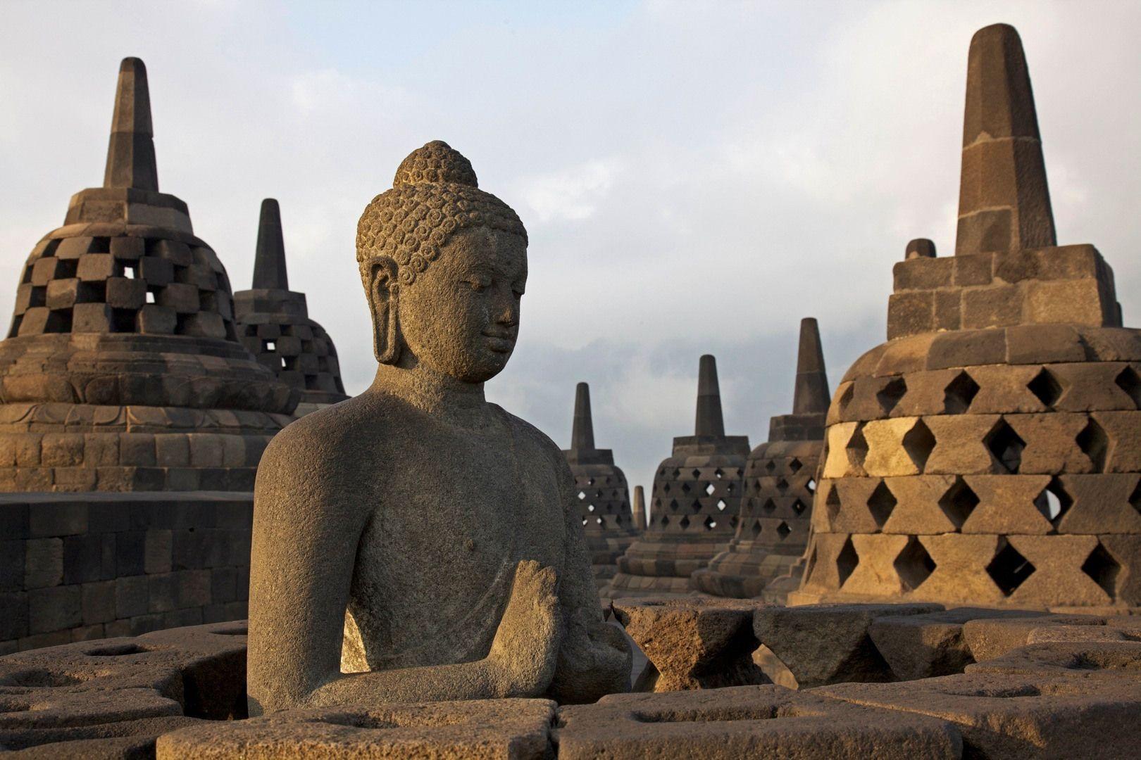 Borobudur, a Buddhist Monument in Indonesia