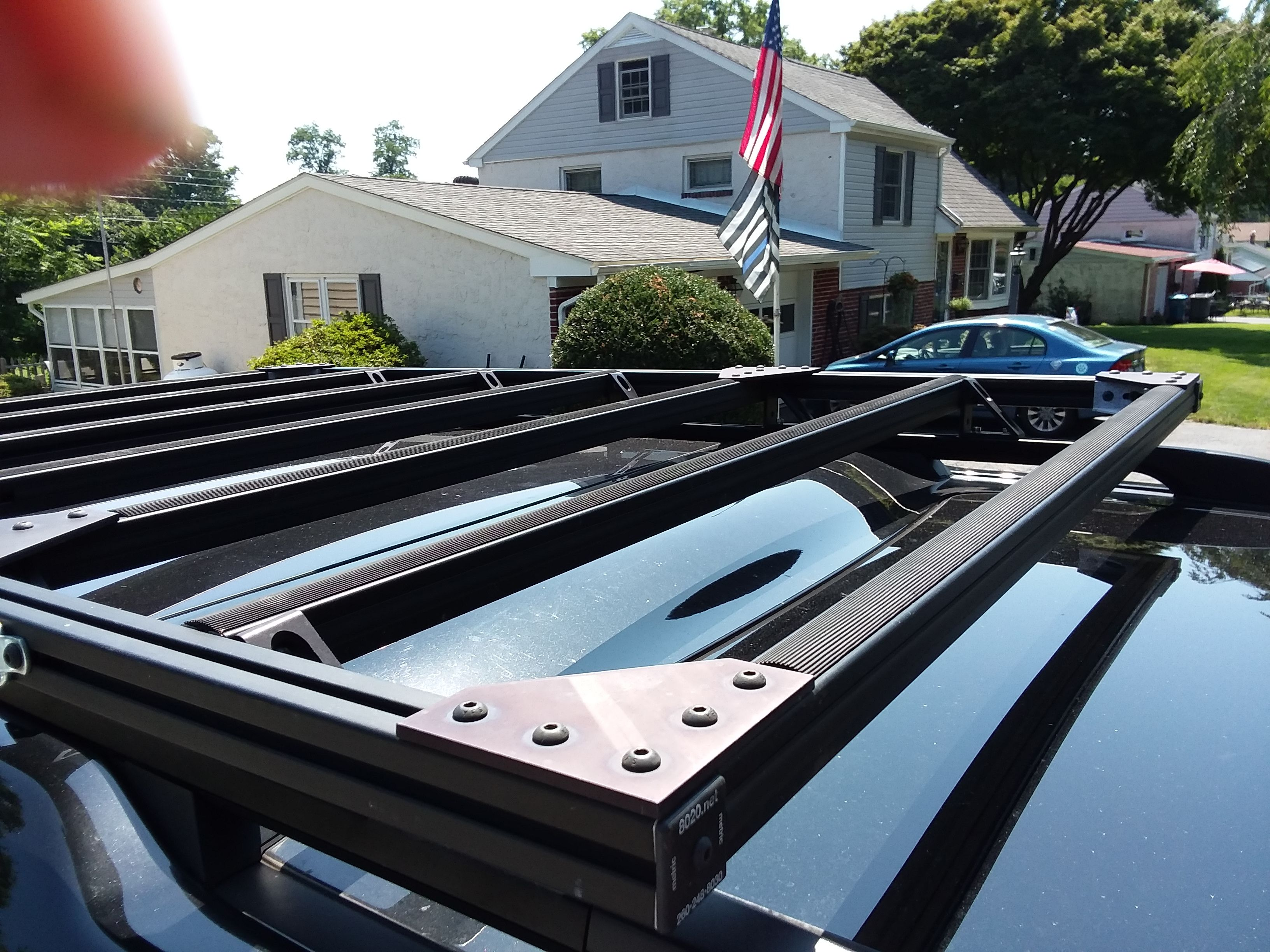 Roof Rack I Made For An Lr4 Using 80 20 T Slot Aluminum Img 3 Mercedes Sprinter 4x4 Roof Rack Aluminum