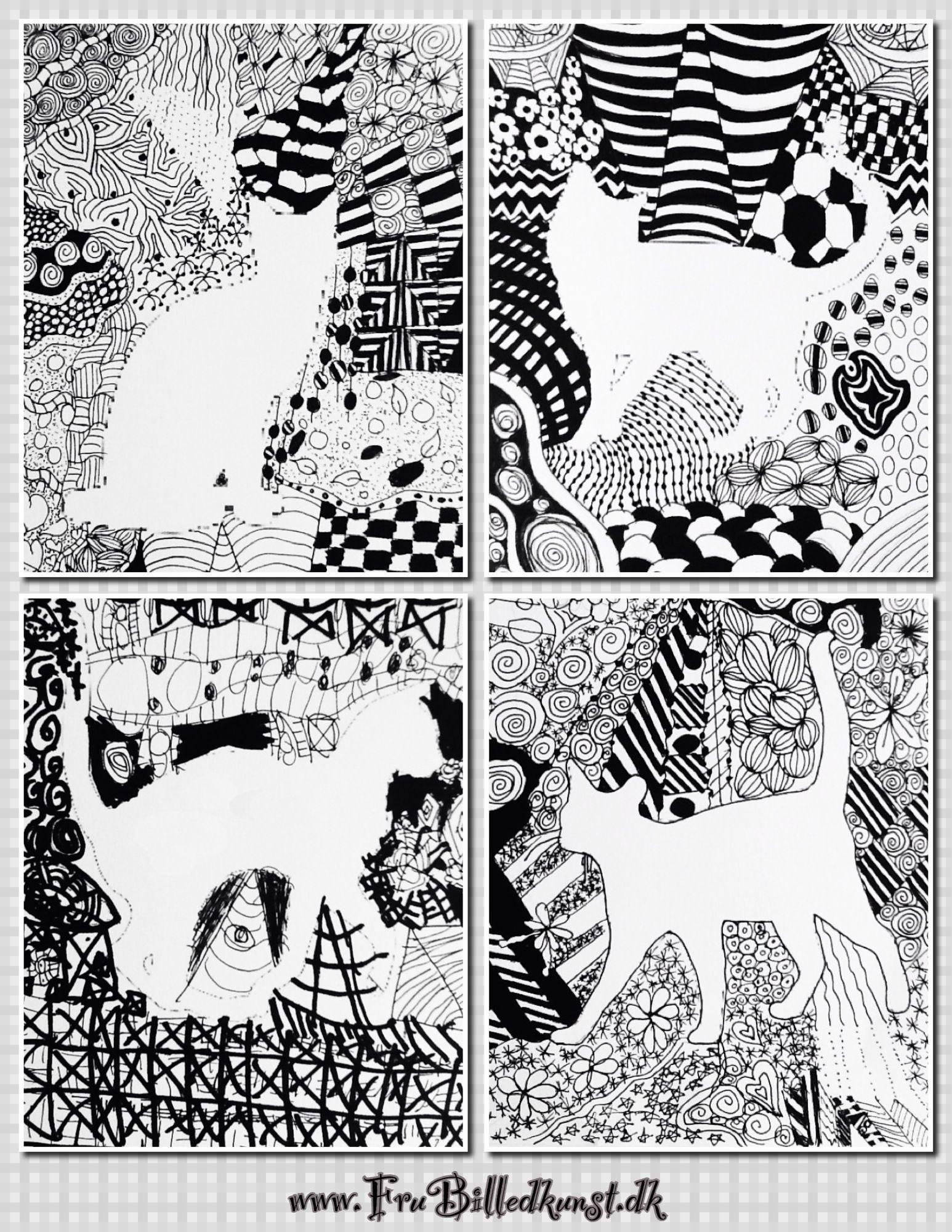 Frubilledkunst doodle zentangled animals domestic