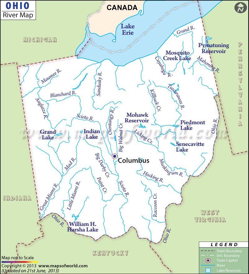 Ohio Location On The US Map Ohio Maps And Data MyOnlineMapscom OH