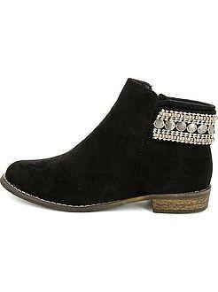 2284e2335f3 Zapatos - Botines planos con abalorios de adorno - Kiabi