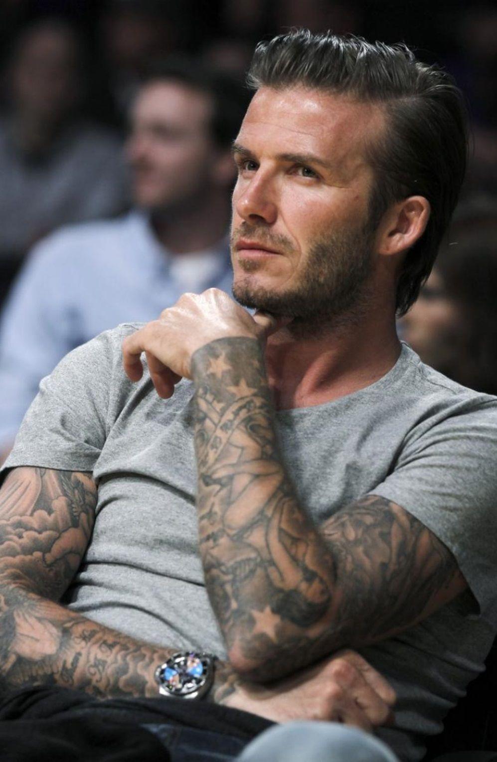David Beckham I Lovvee His Tattoo Sleeves D David Beckham Tattoos David Beckham Sleeve Celebrity Tattoos
