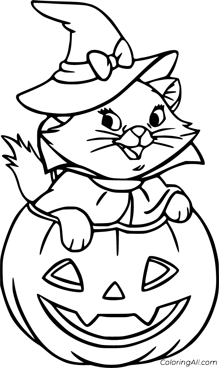 55 Free Printable Halloween Cat Coloring Pages In Vector Format Easy To Print From Any Device An Halloween Coloring Pages Halloween Coloring Cat Coloring Page