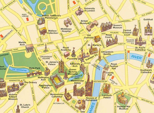 London Attractions Map Has A Wide Range Of: Sightseeing Map Of London At Infoasik.co