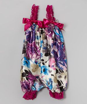 Purple Flower Bubble Romper - Infant, Toddler & Girls by Wenchoice #zulily #zulilyfinds