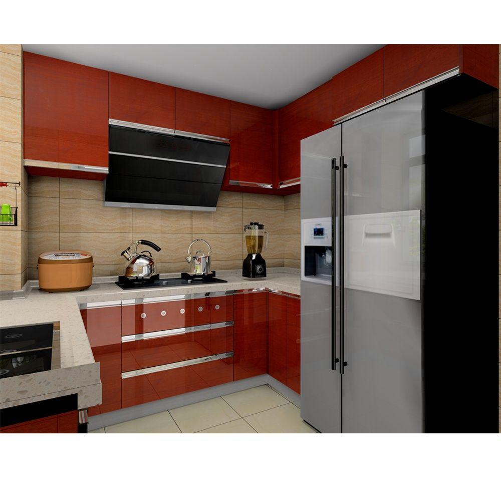 Foshan Furniture Luxury Design Stainless Steel Kitchen ...