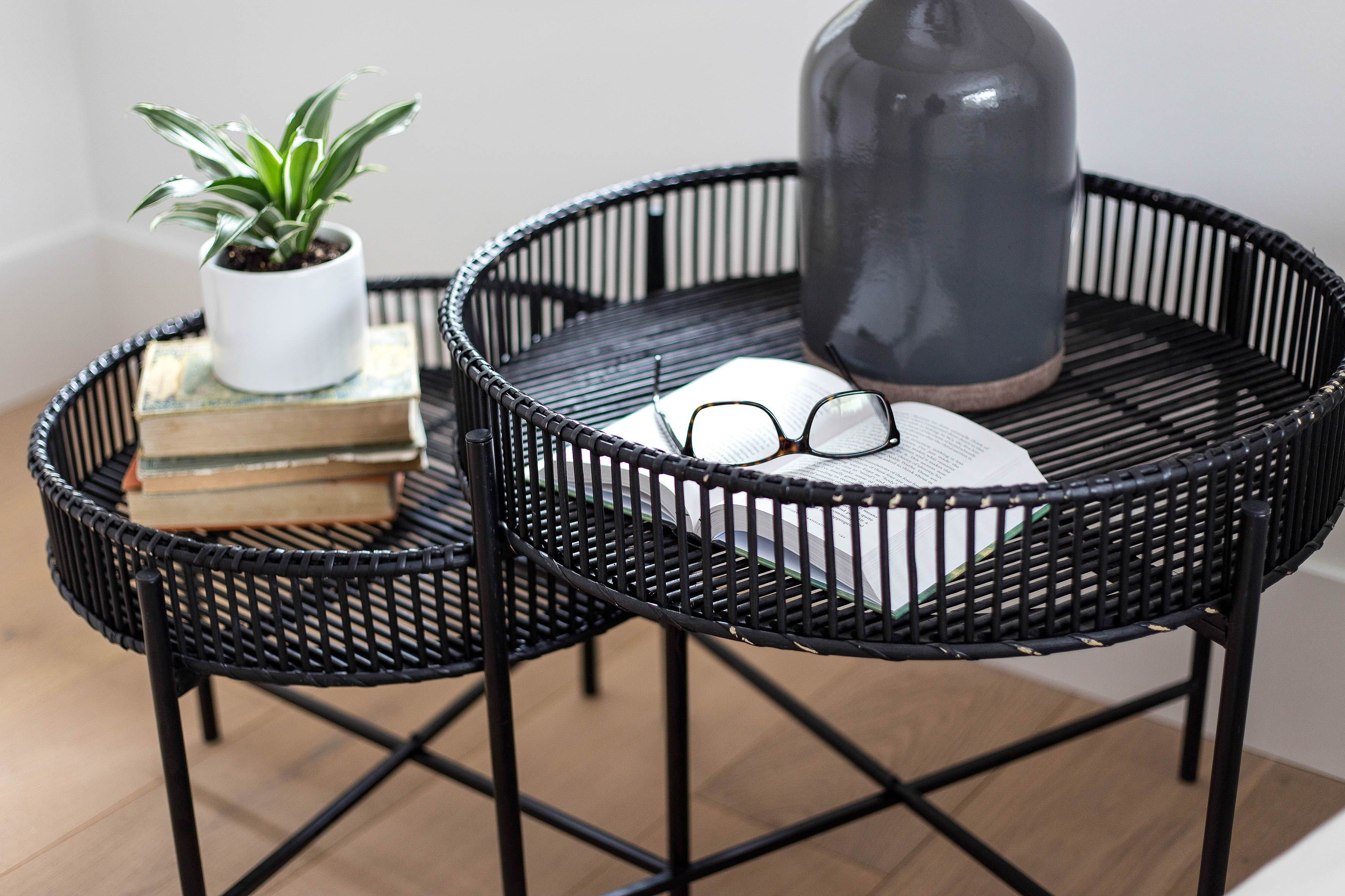 Eden Bamboo Accent Table Set Ebony Our Style In Your