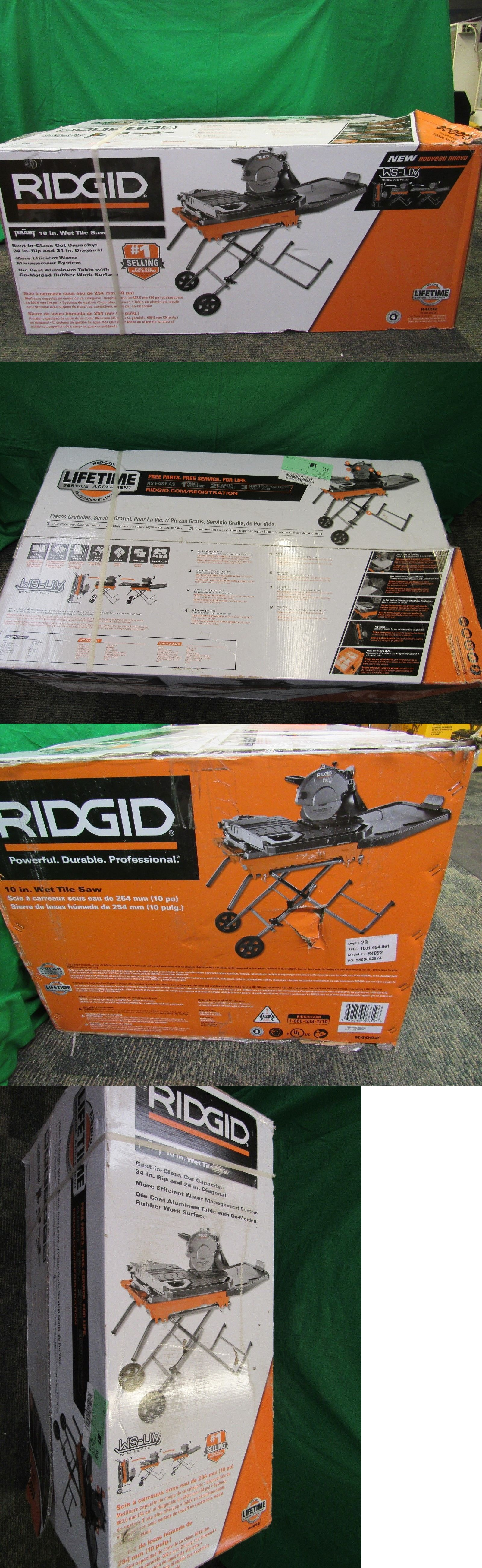 Tile Saws 122836 Ridgid R4092 The Beast 10 Wet Tile Saw With Stand Brand New Buy It Now Only 459 99 On Ebay Ridgid Beast Sta Tile Saw Wet Tile Saws