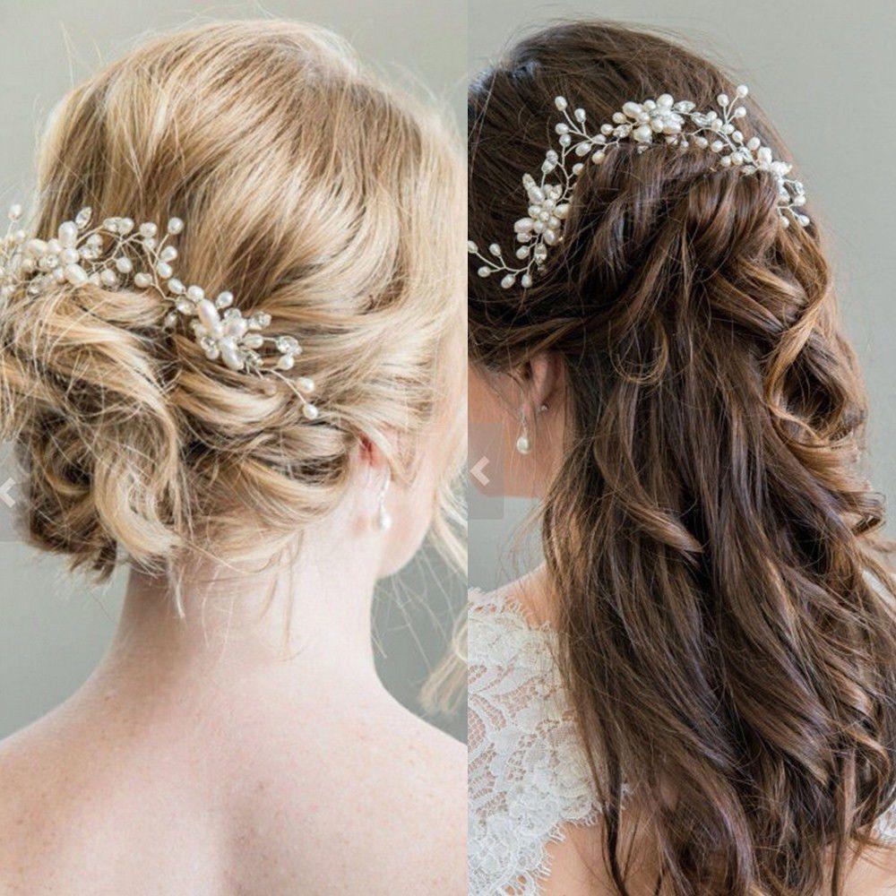 $1.38 - bridal leaf flower hair accessories pearl flower