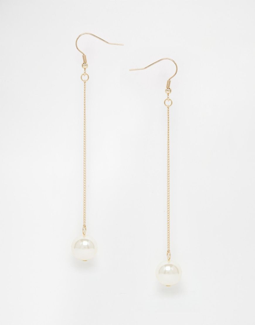 Asos Faux Pearl Drop Earrings