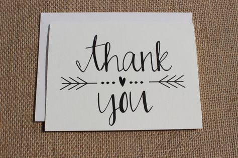 Thank You Cards With Envelopes Wedding Shower Engagement