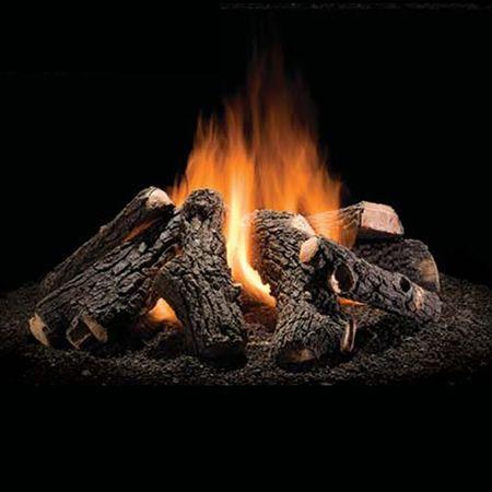 Wilderness Oak Outdoor Gas Fire Pit Logs 30 Woodlanddirect Com