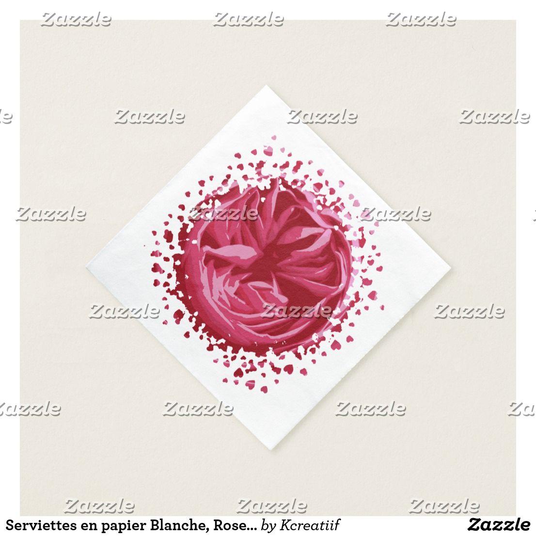 Serviettes En Papier Originales serviettes en papier blanche, roses macro   serviettes