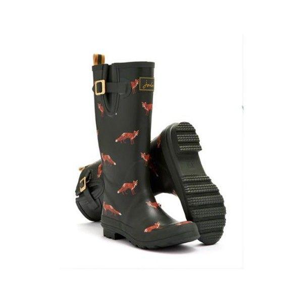 Joules Design Print Women Waterproof Fashion Rain Festival Walking Wellies Boots
