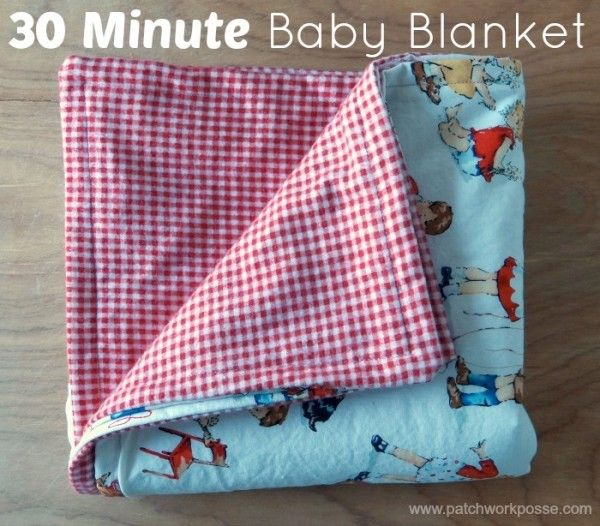 30 Minute Baby Blanket | Blanket, Sewing projects and Simple projects