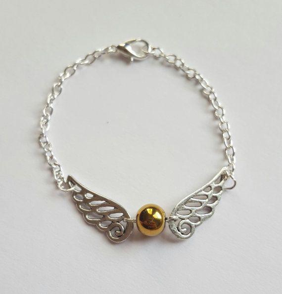 Golden Snitch Harry Potter Bracelet by MagicallyMade4You on Etsy