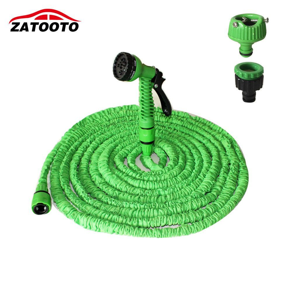 150FT/45M Car Portable Pressure Washer Flexible Expandable Garden Hose High Pressure  Hose Car