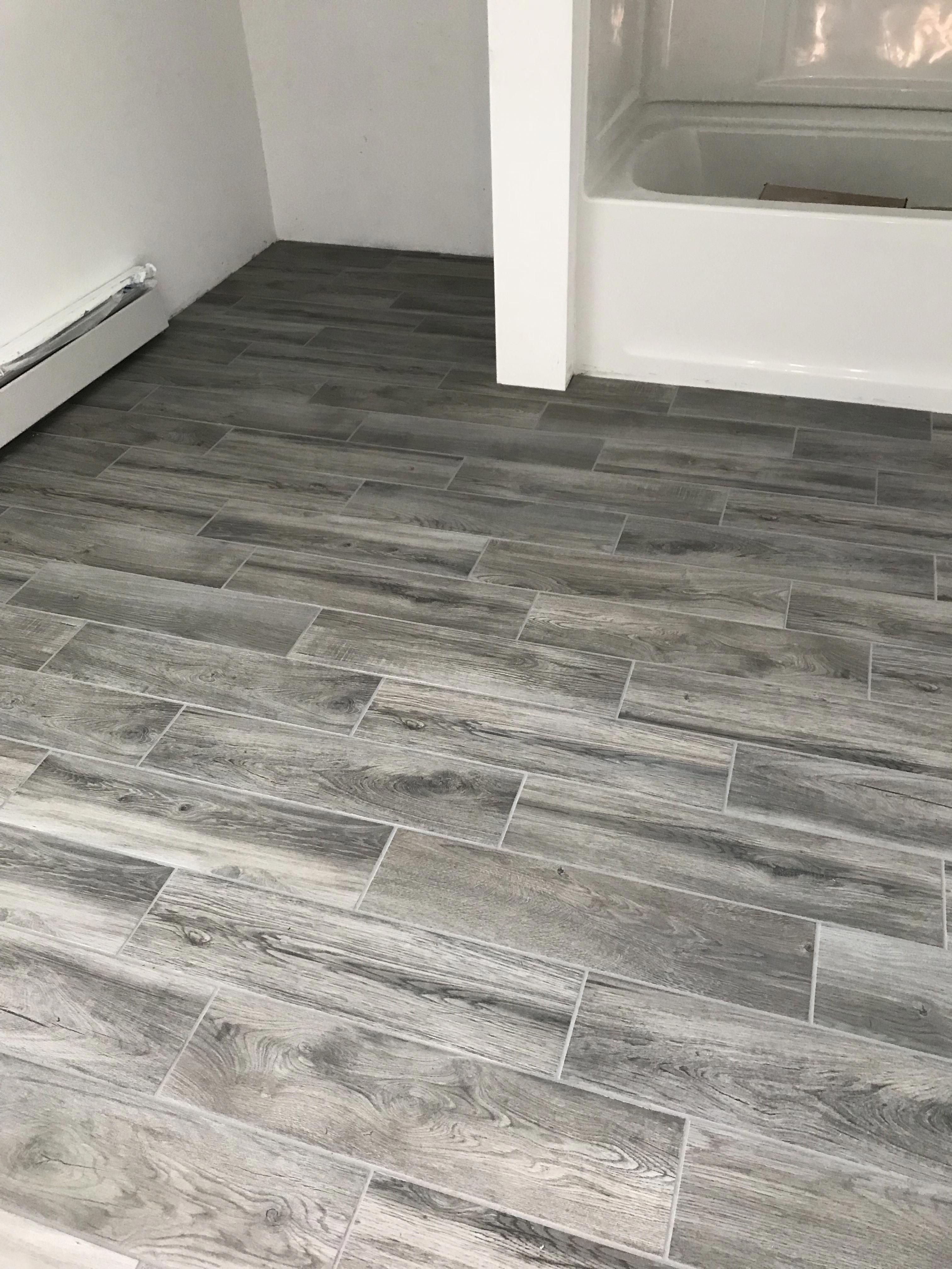 Lifeproof Shadow Wood 6 In X 24 In Porcelain Floor And Wall Tile 14 55 Sq Ft Case Lp33624hd1pr Ceramic Wood Tile Floor Tile Floor Living Room Grey Wood Tile