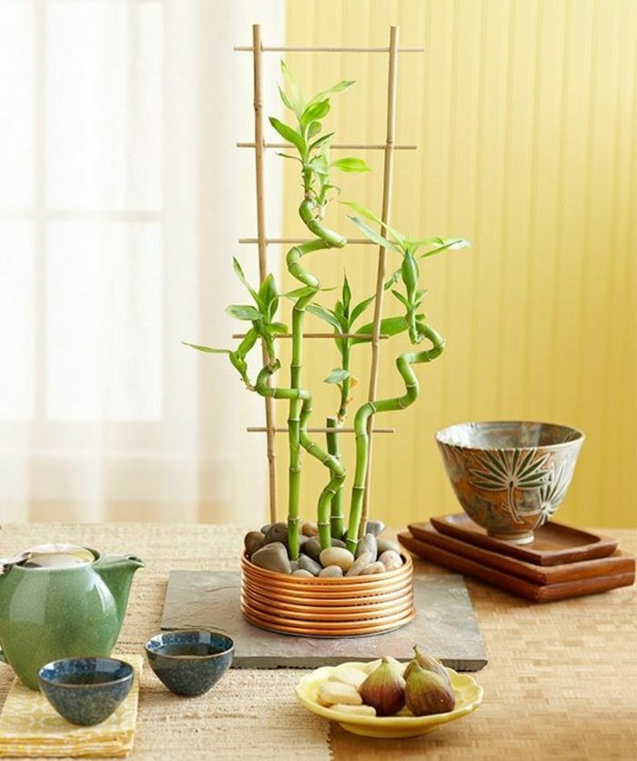 bambus deko bambusstangen ideen wohnaccessoires tischdeko ...