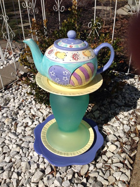Glass garden art yard art garden decor door BsCozyCottageCrafts