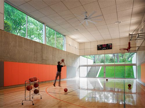 Contemporary Home Gym Kitchen Windows Design Pictures Remodel Decor And Ideas Page 7 Gym As A Home Basketball Court Hinsdale House Indoor Basketball Court