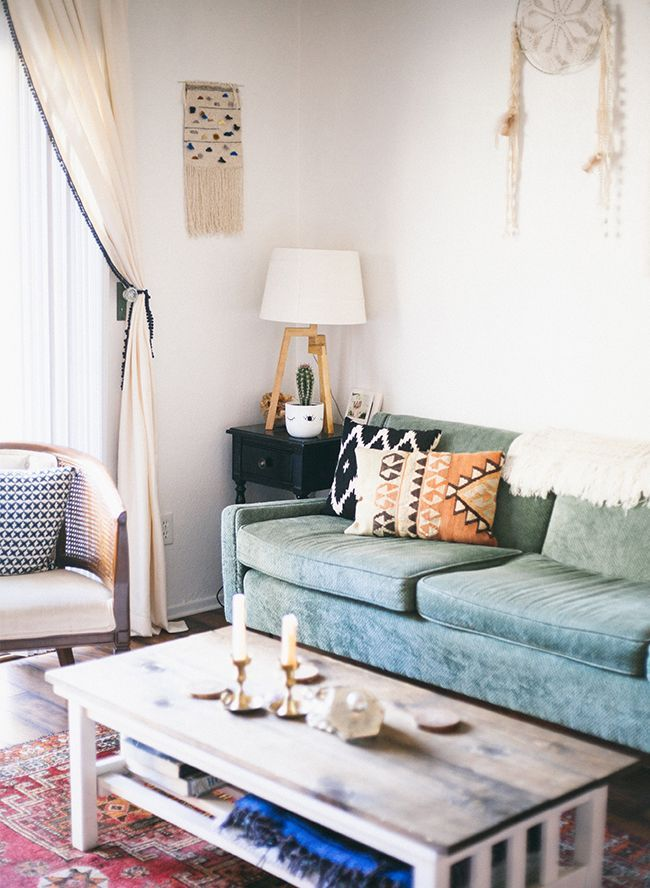 Mid-Century Boho Home Tour | Mid century, Bungalow and Living rooms