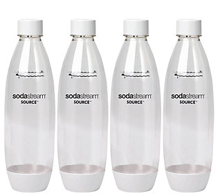 Sodastream 1 Liter Source Plastic Carbonating Bottles 4 Pk Qvc Com In 2020 Plastic Bottle Design Bottle Pet Bottle
