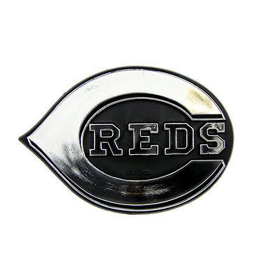 Cincinnati Reds Logo 3D Chrome Auto Decal Sticker NEW!! Truck or Car