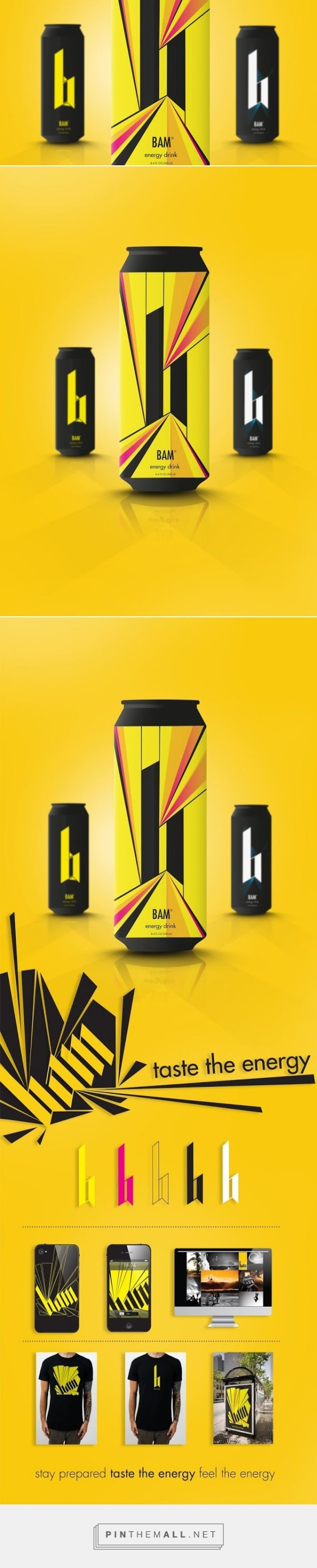 BAM Energy Drink (Student Project) Bottle design