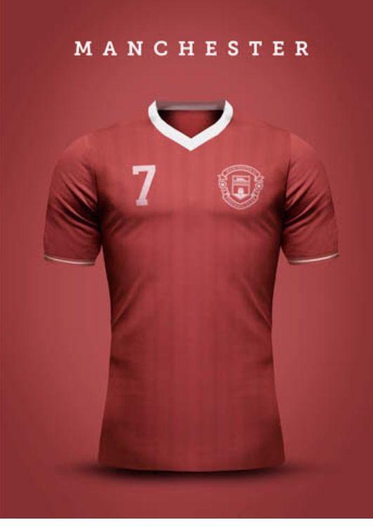Manchester United Gibraltar Vintage Concept Kit Soccer Shirts Polo Design Jersey Design
