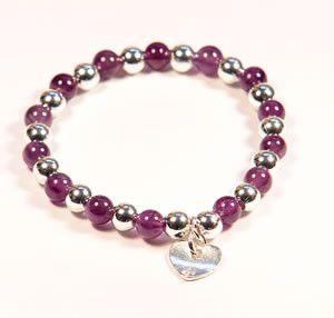 Amethyst Bracelet: Amethyst Silver Plated Bracelet by Jennifer Rose | Jennifer Rose Jewellery £14