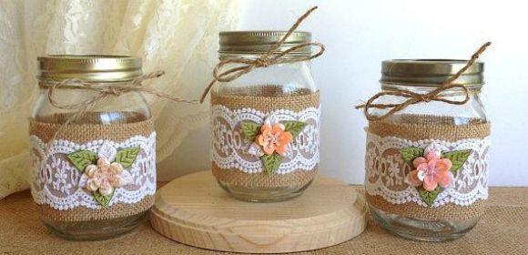 ideas de decoracin reciclando botes y tarros de cristal para hacer y bonitos objetos decorativos