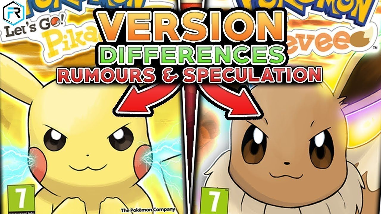 Pokemon Let S Go Pikachu Let S Go Eevee Differences Pikachu