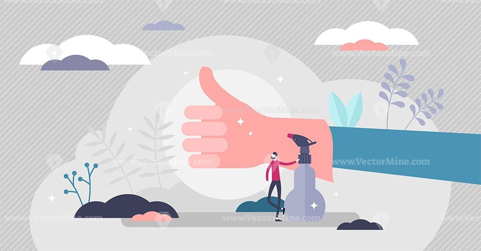 OK glove hand vector illustration in 2020 Vector