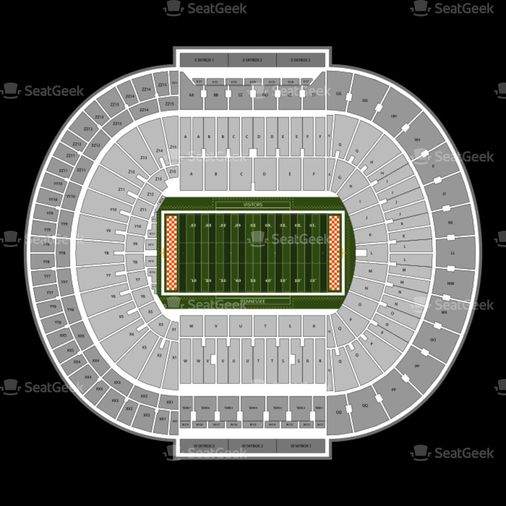 Neyland Stadium Seating Chart With Rows Di 2020
