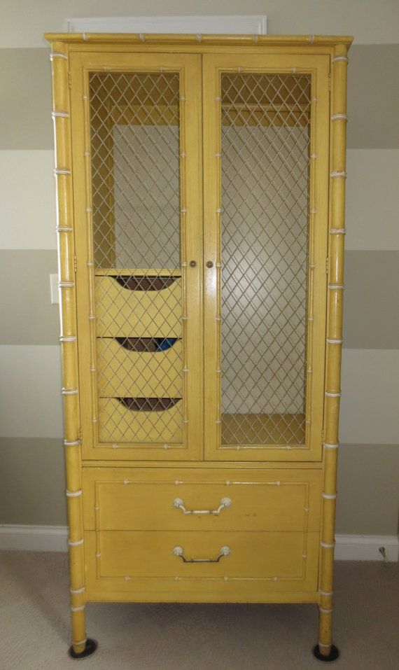 Faux Bamboo Armoire By Thomasville