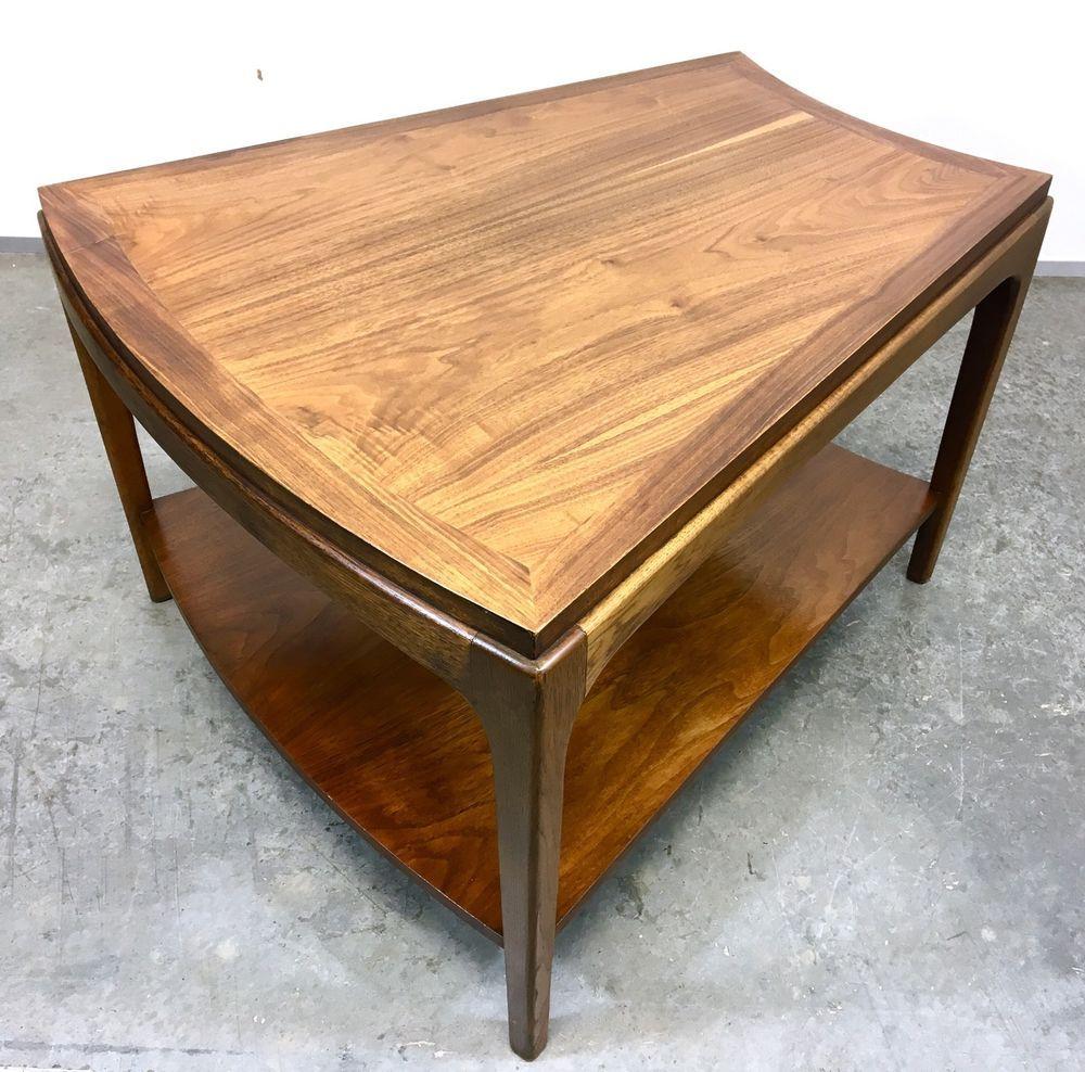 Mid Century Modern Lane Rhythm Wedge Side Table Coffee Table Mcm Vintage Retro Coffee Table Table Wedge End Table [ 988 x 1000 Pixel ]