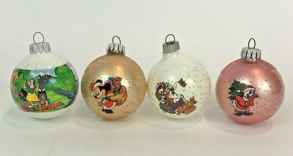Vintage Disney Christmas Ornaments Glass Balls Mickey Goofy Donald Snow White Disney In 2020 Disney Christmas Ornaments Disney Christmas Christmas Ornaments