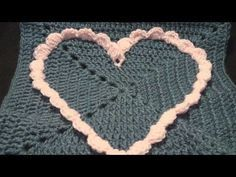 Commemorative Large Crochet Heart Granny Square Crochet Geek