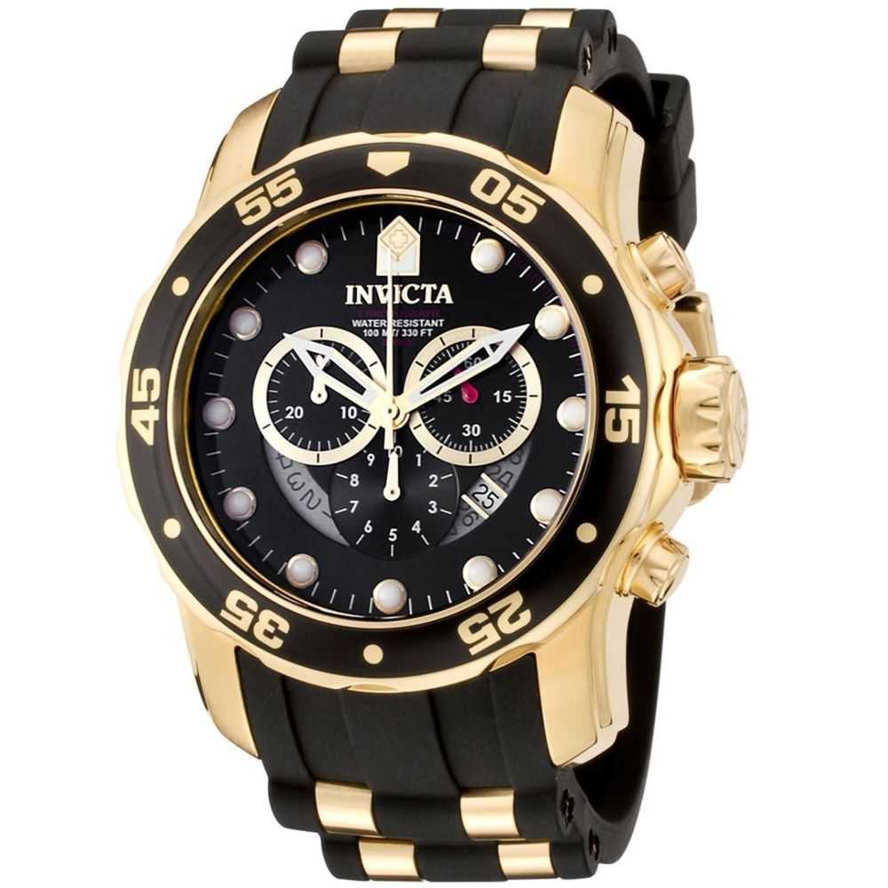 invicta 6981 wrist watch for men gold watches black gold and of invicta 6981 wrist watch for men black and gold