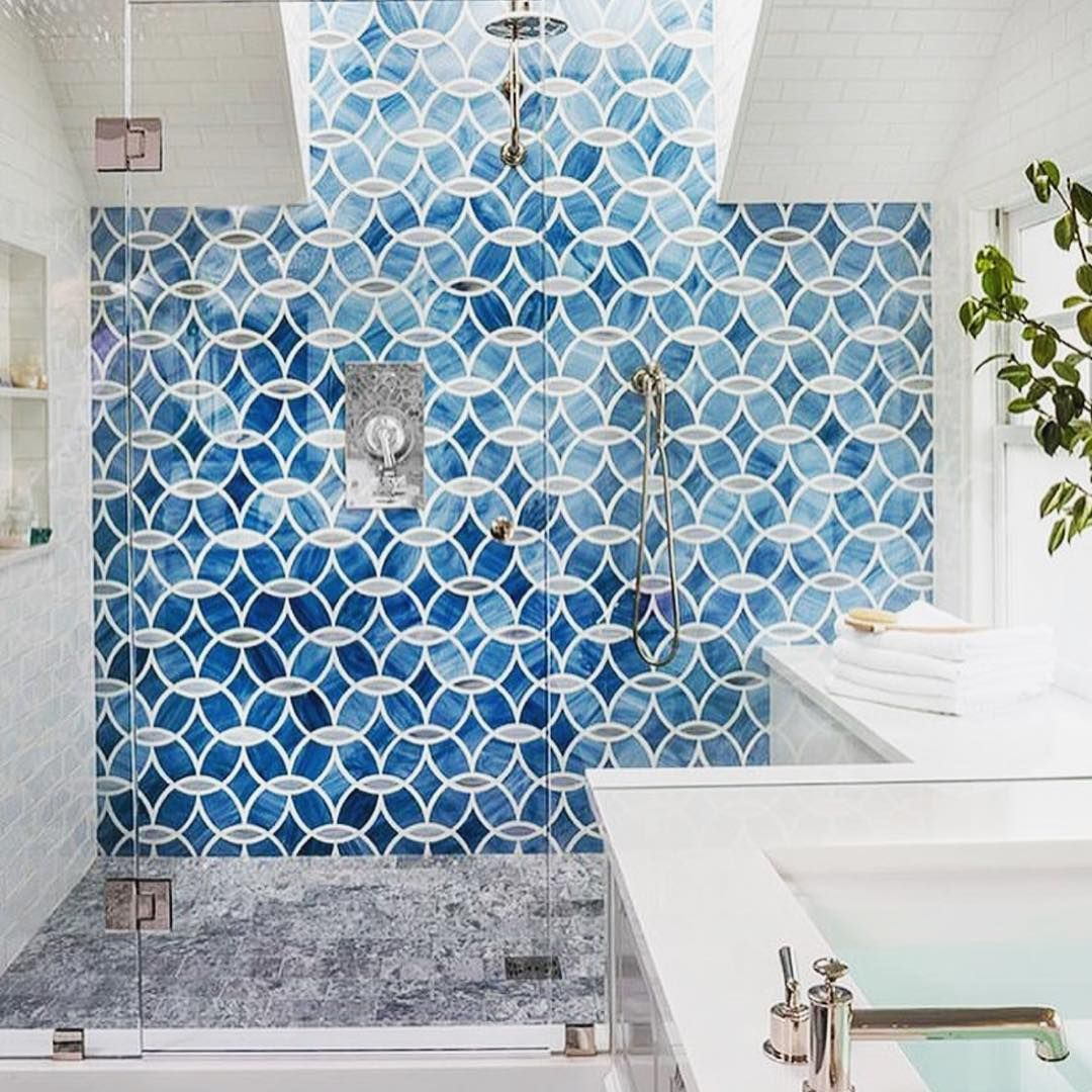 blue tiled shower | decorate | Pinterest | Future, Interiors and House