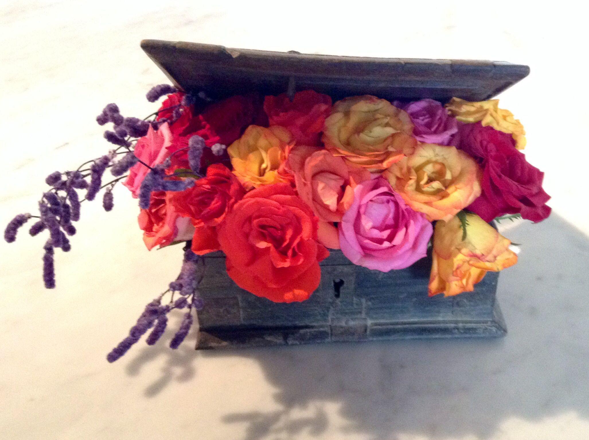 #flowerarrangement box of surprises