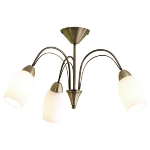 Buy tesco lighting tulip ceiling fitting antique brass from our pendant suspension lights range at tesco direct