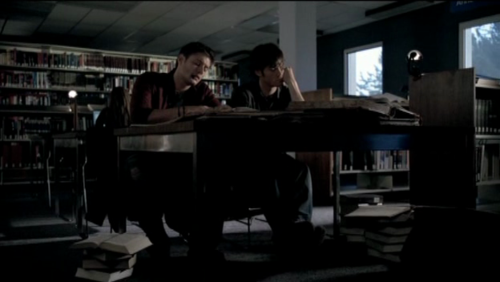 Image result for sam and dean library